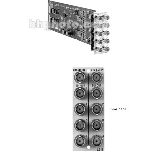 "Sony BKPF-L612 Dual Input SDI Variable Bitrate Distribution Board for PFV-L10 19"" Rack Mountable Compact Interface Unit"