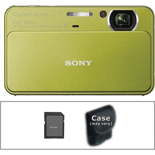 Sony Cyber-shot DSC-T99 Digital Camera with Basic Accessory Kit (Green)