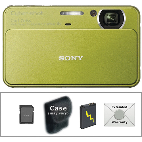 Sony Cyber-shot DSC-T99 Digital Camera with Deluxe Accessory Kit (Green)