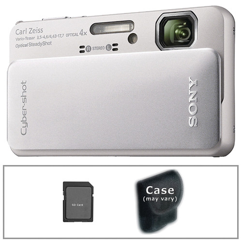 Sony Cyber-shot DSC-TX10 Digital Camera with Basic Accessory Kit (Silver)