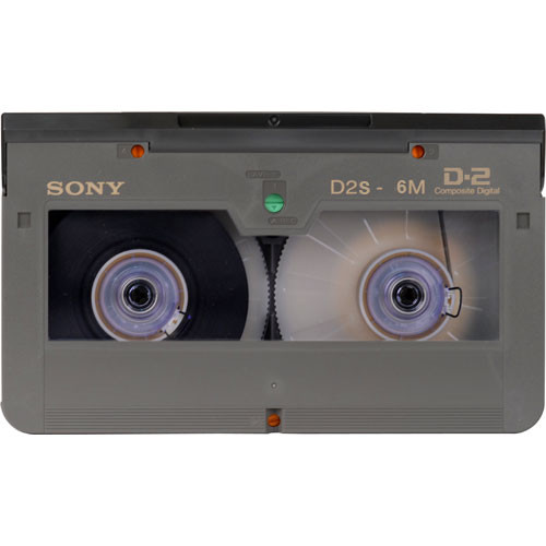 Sony D2S-6M Digital D2 Video Cassette, Small Shell