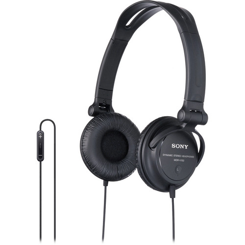 Sony DRV-150iP On-Ear Stereo Headphones with Mic and Remote