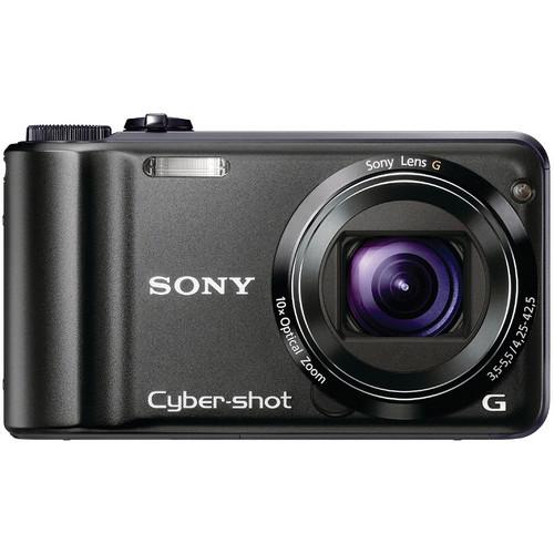 Sony Cyber-shot DSC-H55 Digital Camera (Black)