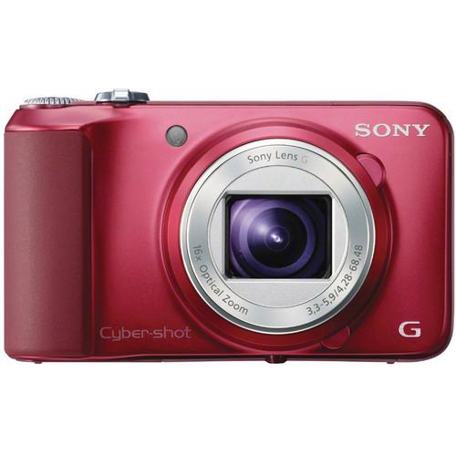 Sony Cyber-shot DSC-H90 Digital Camera (Red)