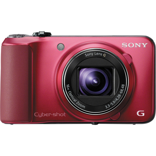 Sony Cyber-shot DSC-HX10V Digital Camera (Red)
