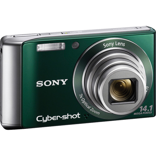 Sony Cyber-shot DSC-W370 Digital Camera (Green)
