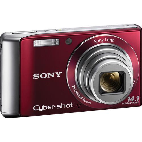 Sony Cyber-shot DSC-W370 Digital Camera (Red)
