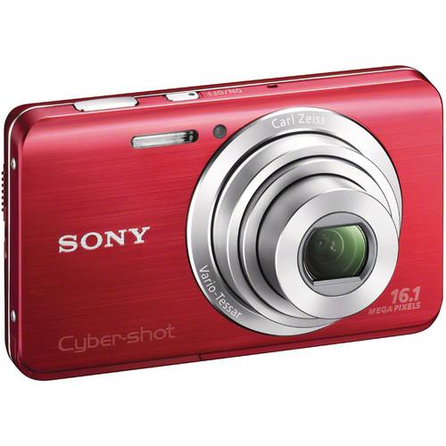 Sony Cyber-Shot DSC-W650 Digital Camera (Red)
