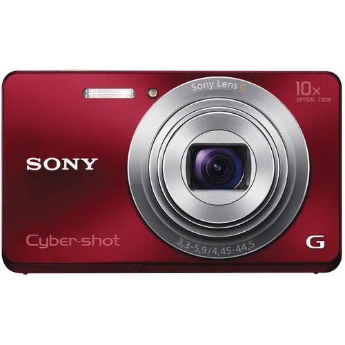 Sony Cyber-shot DSC-W690 Digital Camera (Red)
