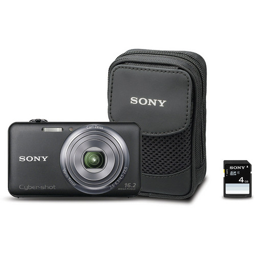 Sony Cyber-shot DSC-WX70 Digital Camera Bundle (Black)