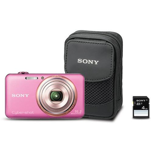 Sony Cyber-shot DSC-WX70 Digital Camera Bundle (Pink)