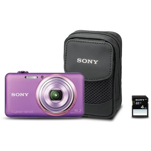 Sony Cyber-shot DSC-WX70 Digital Camera Bundle (Violet)