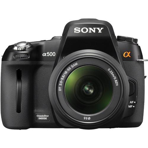 Sony DSLR-A500 12.3 MP   Digital SLR Camera With 18-55mm  f/3.5-5.6 DT AF Zoom Lens