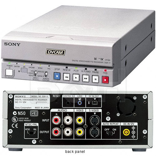 Sony DSR-11 DVCAM / DV Compact Player/Recorder