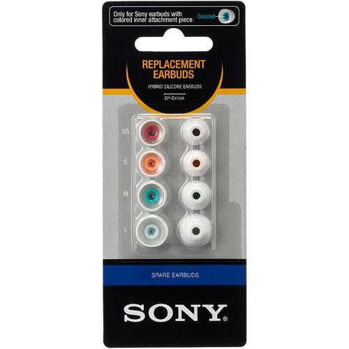Sony EP-EX10A Replacement Eartips for In-Ear Headphones (4 Pair, White)