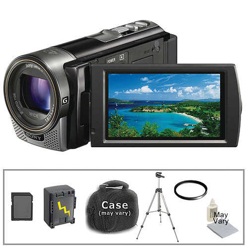 Sony HDR-CX160 HD Flash Memory Camcorder with Basic Accessory Kit (Black)