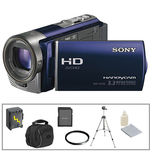 Sony HDR-CX160 HD Flash Memory Camcorder & 6 Accessories B&H Kit