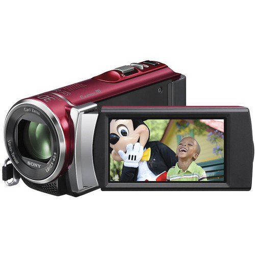 Sony PAL HDR-CX200 Handycam Video Camera (Red)