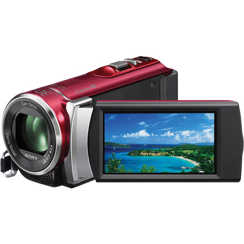 Sony PAL HDR-CX210 Handycam Video Camera (Red)
