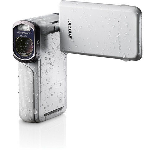 Sony 16GB HDR-GW77V Waterproof Full HD Camcorder (White)