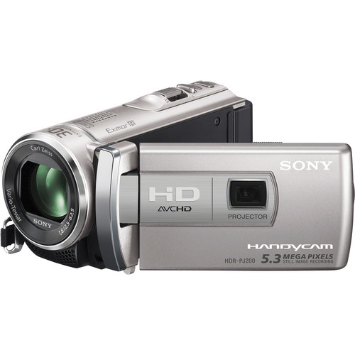 Sony HDR-PJ200 High Definition Handycam Camcorder with Projector (Silver)