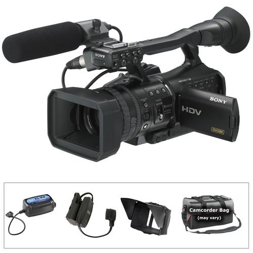 Sony HVR-V1U HDV 1080i/24p Cinema Style Camcorder Kit, includes Anton Bauer ElipZ Battery Package, DVD, and Camcorder Bag