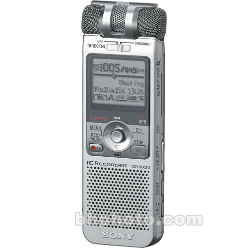 Sony ICD-MX20 Digital Voice Recorder