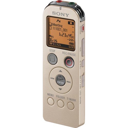 Sony ICD-UX523 Digital Flash Voice Recorder (Gold)