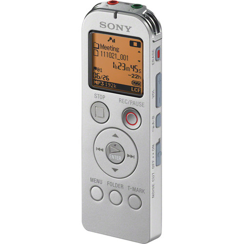 Sony ICD-UX523 Digital Flash Voice Recorder (Silver)