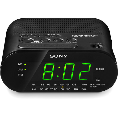 Sony ICF-C218 AM/FM Clock Radio (Black)