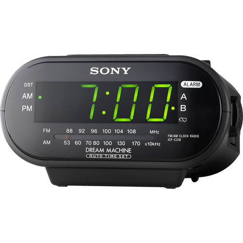 Sony ICF-C318 AM/FM Clock Radio (Black)