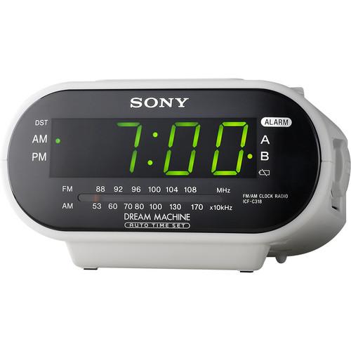 Sony ICF-C318 AM/FM Clock Radio (White)