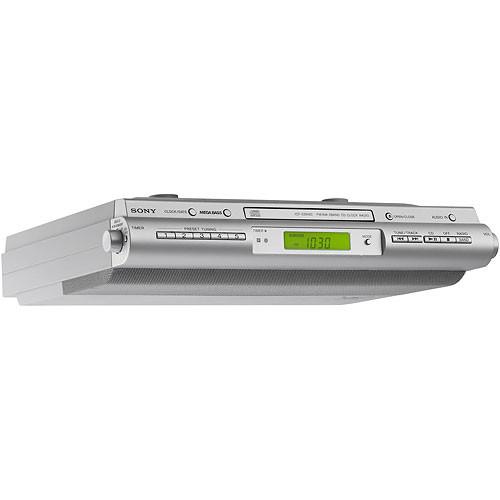 Sony Icfcdk Under Cabinet Kitchen Cd Clock Radio