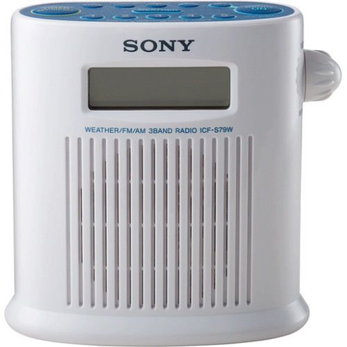 Sony ICF-S79W Weather Band Digital Shower Radio