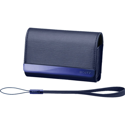 Sony TWK Simulated Leather Carry Case for a Cyber-shot Digital Camera (Blue)