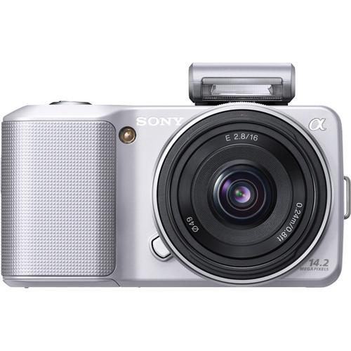 Sony Alpha NEX-3 Interchangeable Lens Digital Camera w/16mm Lens (Silver)