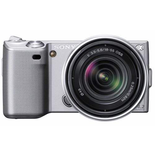 Sony Alpha NEX-5 Interchangeable Lens Digital Camera w/18-55mm Lens (Silver)