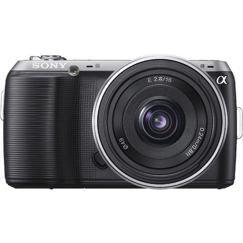 Sony Alpha NEX-C3 Digital Camera with 16mm Wide-Angle Lens (Black)