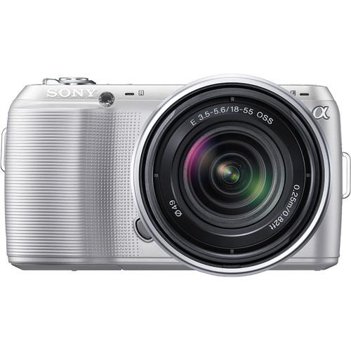 Sony Alpha NEX-C3 Digital Camera with 18-55mm Lens (Silver)