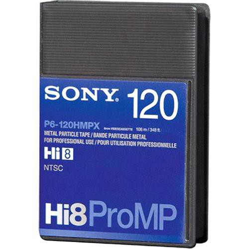 Sony P6-120 HMPX Hi-8/Digital 8 Professional Metal Particle Video Cassette