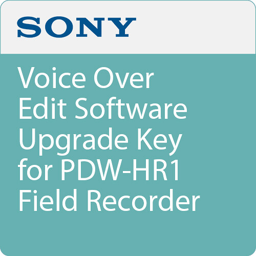 Sony Voice Over Edit Software Upgrade Key for PDW-HR1 Field Recorder