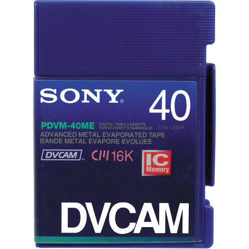 Sony PDVM-40ME DVCAM Mini Videocassette (Mini)