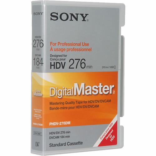 Sony PHDV-276DM 276 Minute Digital Master Videocassette