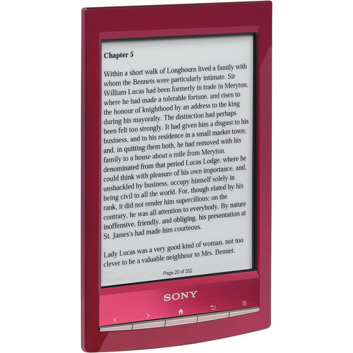 Sony PRS-T1 Wi-Fi Reader (Red)