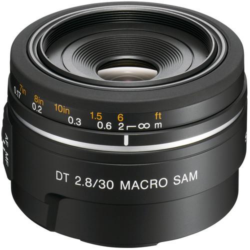 Sony DT 30mm f/2.8 Macro SAM Lens