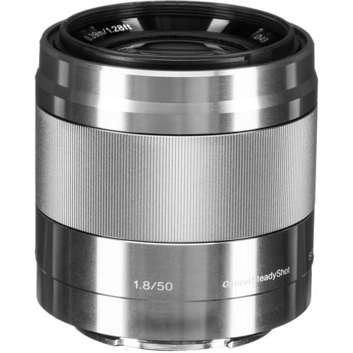 Sony E 50mm f/1.8 OSS Lens (Silver)
