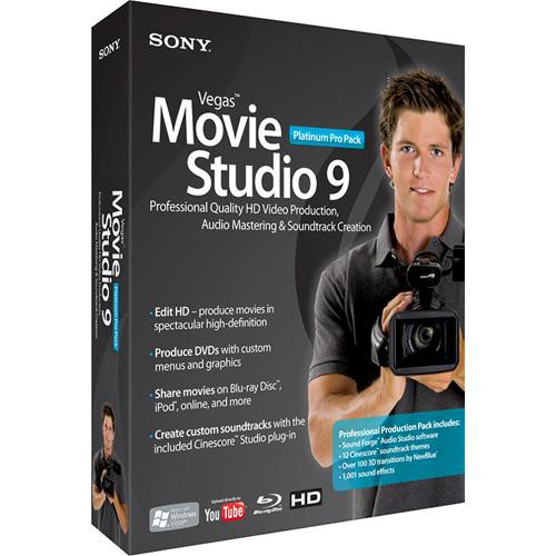 Sony Vegas Movie Studio 9 Platinum Edition Pro Pack Video Editing Software