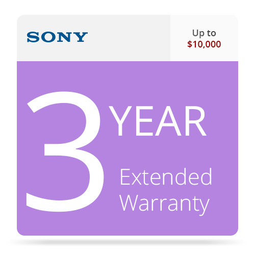 Sony SPSCAM10RSEW3 3-Year Extended Warranty for Professional Camcorders Up to $10,000