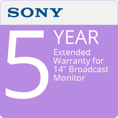 """Sony 5-Year Extended Warranty for 14"""" Broadcast Monitor"""