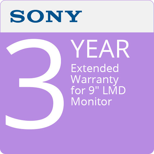 "Sony 3-Year Extended Warranty for 9"" LMD Monitor"